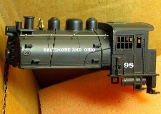 0T SADDLE TANK DOCKSIDE LOCO SHELL B&O #98 AHM/RIVAROSSI PART NEW