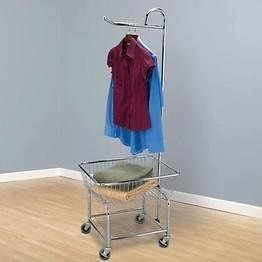 Laundry Cart Household Wheels Sorter Butler Rack Clothes Hanging