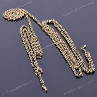 1x New Women Sexy Golden Choker Waist Full Body Link Chain Fashion