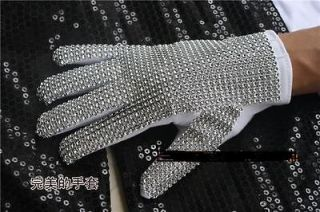 Michael Jackson Billie Jean Crystal handmade Glove For Both hand