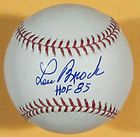 LOU BROCK AUTOGRAPHED/SIG​NED MLB BASEBALL ST LOUIS CARD