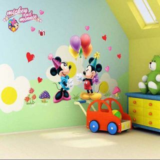 lovely Animals Mickey and Minnie Mouse Decor Decals Wall Sticker