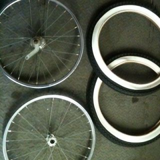 lowrider bike 20 inch wheels with new tires returns not