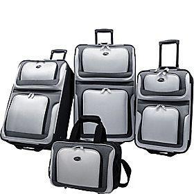 traveler new yorker 4 piece luggage set gray