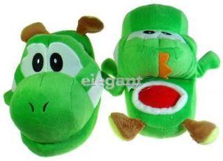 nintendo super mario bro green yoshi kids plush slipper from