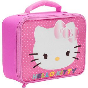 Hello Kitty insulated Lunch Box Bag Pink Polkadots Kids Girls