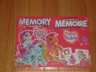 new my little pony memory game no reading required rare