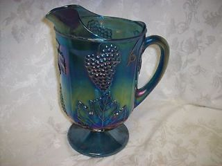 blue carnival glass pitcher in Contemporary (1940 Now)