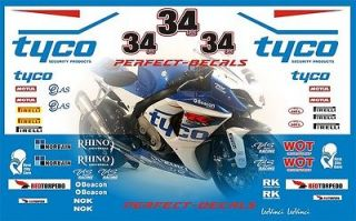 mini moto 2012 bsb tyco ful race decal sticker set