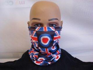 neck warmer face mask scarf scooter target union jack