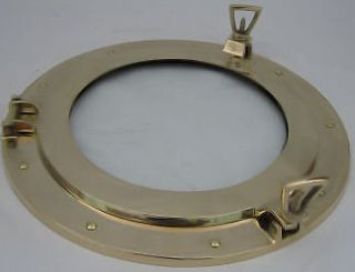 newly listed 14 in brass nautical porthole with glass time
