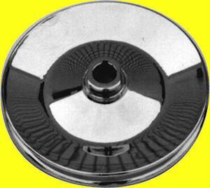 Chrome Sbc Bbc Chevy 1 Grove 1/8 Key Way Power Steering Pump Pulley