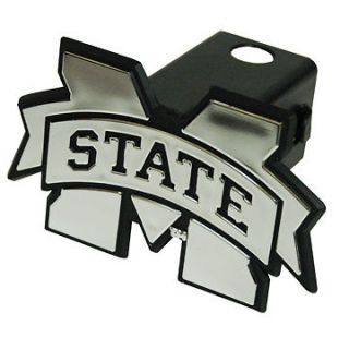 Mississippi State Silver Trailer Hitch Cover  NEW Bulldogs Truck Cap 2