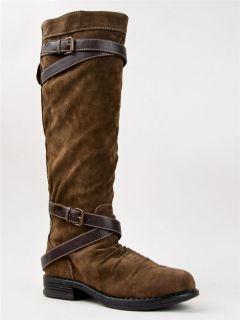 NEW MADDEN GIRL ZERGE Women Buckle Zipper Knee High Riding Cowboy Boot