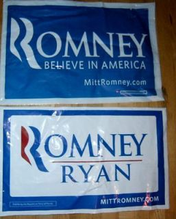 Mitt Romney Plastic All Weather Yard Signs from Florida Republican