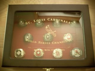 st louis cardinals world series ring set and wooden box