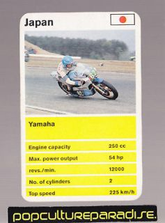 yamaha 250 cc racing motorcycle 1970 s top trumps card