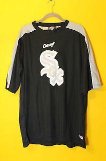 New Stitches MLB Chicago White Sox logo jersey shirt black mens M $50