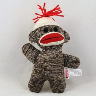 sock monkey plush stuffed doll 7 18cm brown from hong