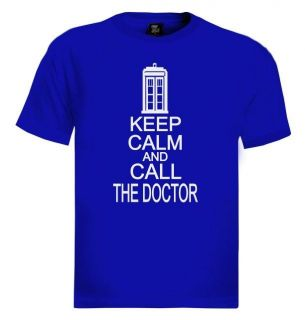 KEEP CALM AND CALL THE DOCTOR T Shirt Who Cult TV Series Funny cool
