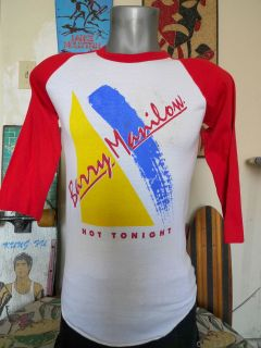 80s Vintage 1983 BARRY MANILOW North American Tour Jersey T Shirt
