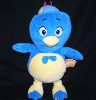 12 BLUE & YELLOW BIRD PABLO Plush Stuffed RATTLE Baby Toy