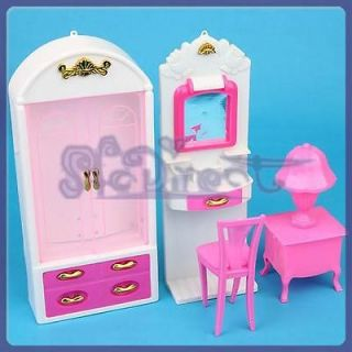 Newly listed Cabinet Dressing Table Chair furniture Set for Barbie