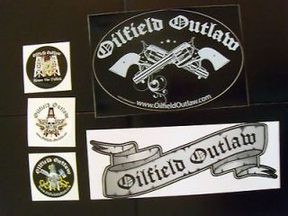 oilfield outlaw hard hat sticker pack oilfield stickers time left