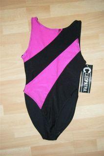 Vtg 80s Aerobics Shiny Spandex Lycra Leotard Workout Bodysuit Pink