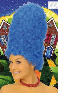 NEW TALL BLUE BEEHIVE MARGE SIMPSON CARTOON FANCY DRESS COSTUME WIG