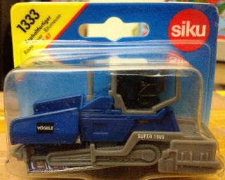SIKU 1333 VÖGELE Super 1900 Asphalt Paver 1:87 BLUE PACKING COVER