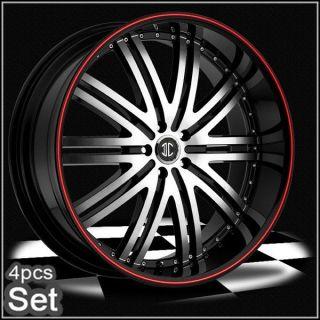 22inch for land range rover camaro wheels rims red ring