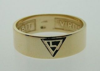 Newly listed Fine Vintage 14K Yellow Gold Enamel Yod Masonic Ring