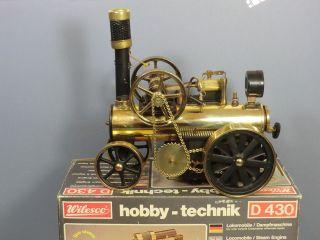 WILESCO HOBBY TECHNIK D430  LOCOMOBILE STEAM TRACTION ENGINE VN