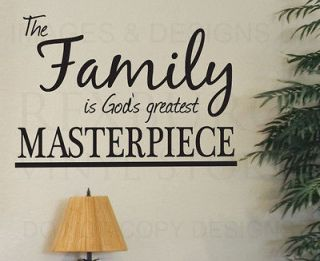 Wall Art Decal Sticker Quote Vinyl Large Family Gods Greatest