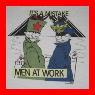 rare men at work 1983 vtg t shirt tour ronald