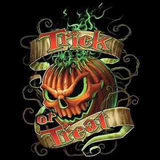 Pumpkin Trick Or Treat Scary Halloween Costume Funny 3XL Black T Shirt