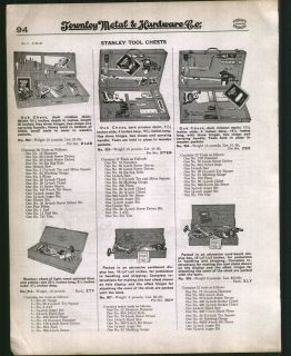 1930 ad stanley tool chests kits carpenter