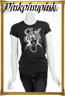 Sailor Jerry Tattoo Flash Gypsy Snake Punk Tee Shirt Pinup Soft Fitted