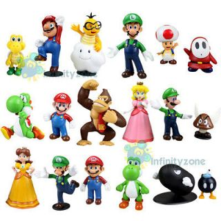 NEW Nintendo Wii Super Mario Bros Yoshi Luigi 18 Figure COLLECTION Set