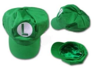 New Super Mario Bros Cosplay Hat Green Luigi Boy Girl Cap ( Child Size