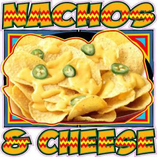 nacho cheese fun concession trailer food sign decal  12