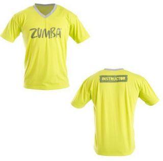 Zumba Mens Instructor V Neck Shirt   Green   ZIN Members Only