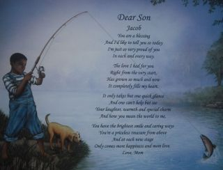 DEAR SON PERSONALIZED POEM BIRTHDAY OR CHRISTMAS GIFT ETHNIC LITTLE