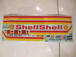 Tamiya 1/14 Scale R/C Oil Tanker Semi Truck Trailer Shell Decal