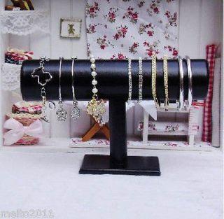 Black Leather Bracelet Bangle Watch Display Holder Rack Z3