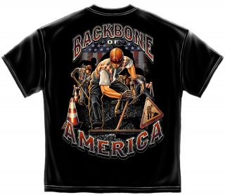 Paving Crew Tshirt Backbone Of America Tar Asphalt Road Paver Highway