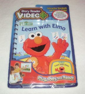 Story Reader Video Plus Sesame Street Learn with Elmo Book & Cartridge