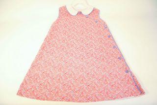 girls 7 remember nguyen red floral dress euc