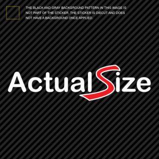 2x) Mini Actual Size Sticker Die Cut Decal Self Adhesive jdm cooper